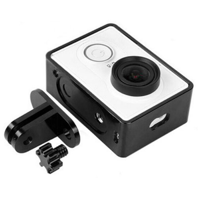 Aluminum Alloy Protective Cover Frame for XiaoMi Yi Sports Camera Black