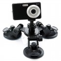 3-Suction Cup Holder Mount for GoPro Hero 4/3/3 +/Sony AS15/AS30 Black