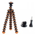 "6.5"" Mini Octopus Tripod + Adapter + Long Screw Set for Camera/Cellphone/GoPro Hero Series/SJ5000 Black & Orange"