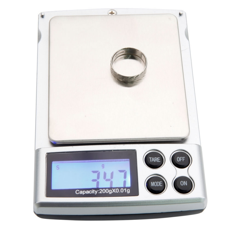 200g x 0.01g 5 LCD Display Digit Scale Jewelry Mini Scale Black