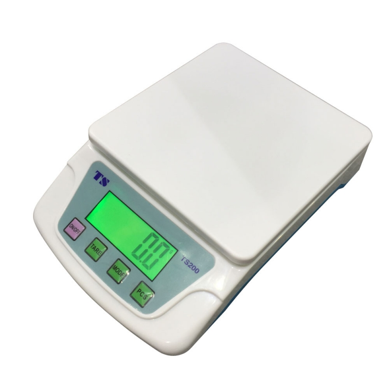 200 10KG/0.5G TS200 Portable Plastic Electronic Scale White
