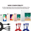 3 in 1 Charging Cable Lightning Type-C Micro USB Quick Charge Cable