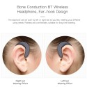 BT Wireless Headphones with Microphone Bone Conduction Ear-hook Painless Hanging Headset Stereo Music Hands-free Calls Noise Cancelling Earphone