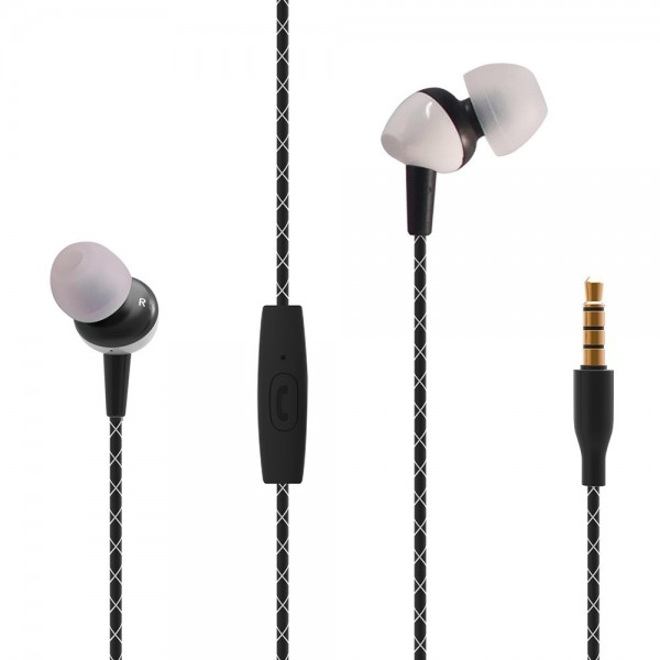 sosnsky T-300 Earphone Universal In-Ear Earbud Wired Hybrid Driver Earphone 3.5mm Bass Sound Microphone Noise Reduction Headphone for iPhone iPad Samsung Smart Phone