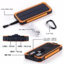 10000mAh Solar Energy Panel Charger 2 USB Ports Rechargeable Power Bank Portable Charger for Smartphone