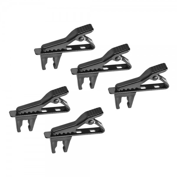 Andoer EY-J06A 5pcs 5mm Wired Lapel Mic Microphone Tie Clip