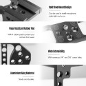 Aluminum Alloy Camera Video Cage Mount Rig Film Movie Making Stabilizer Bracket with Cold Shoe Mount 1/4 Inch Screw Thread for Nikon Z6/Z7