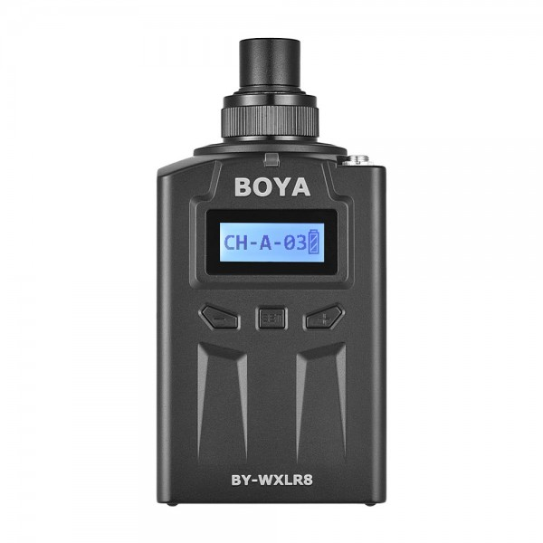 BOYA BY-WXLR8 Plug-on Transmitter with LCD Display for BY-WM8 BY-WM6 Wireless Lavalier   Microphone System 3 Pin XLR Mic Audio Mixer