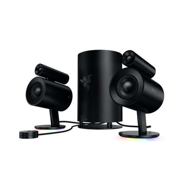 Razer Nommo Pro 2.1 Gaming Speaker THX Certified Premium Audio   Dolby Virtual Surround Sound 7inch Subwoofer Chroma Light Effect