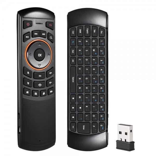 6 Gxes Gyroscope Mini 2.4GHz Wireless QWERTY Keyboard Air Mouse