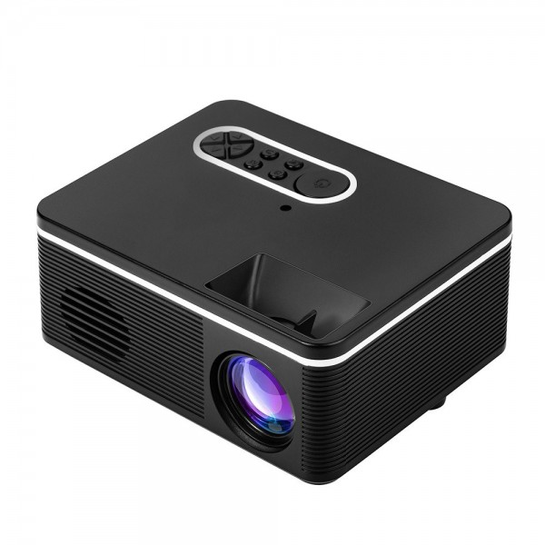 1080P Mini HD Projector Portable LED Light USB AV Port For Office Home Theater Outdoor EU Plug