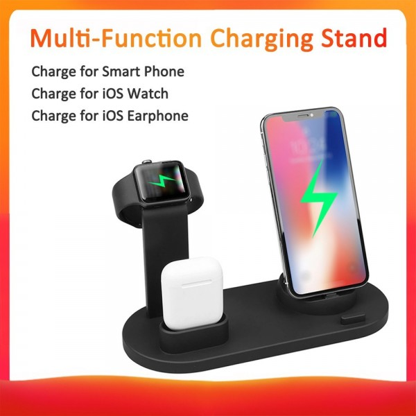 3 in 1 Chargings Dock Holder Bracket Wire-less Chargers