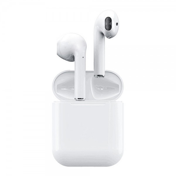Apods i12 Bluetooth 5.0 TWS Earbuds Realtek 8763BFR Binaural Call Tap Control Auto Pairing Stereo Sound 4 Hours Working Time - Upgraded Edition