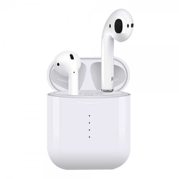 Apods i10 Bluetooth 5.0 TWS Earbuds Wireless Charging Realtek 8763BFR Bilateral Call 4 Hours Working Time Stereo Sound - White