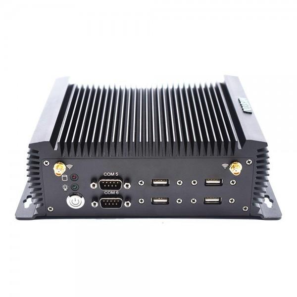 HYSTOU P12 Intel Core i5-4200U 8G RAM 128G SSD Fanless Mini PC 2.4G+5G WIFI LAN 1000M COM USB3.0 HDMI+VGA -- Black